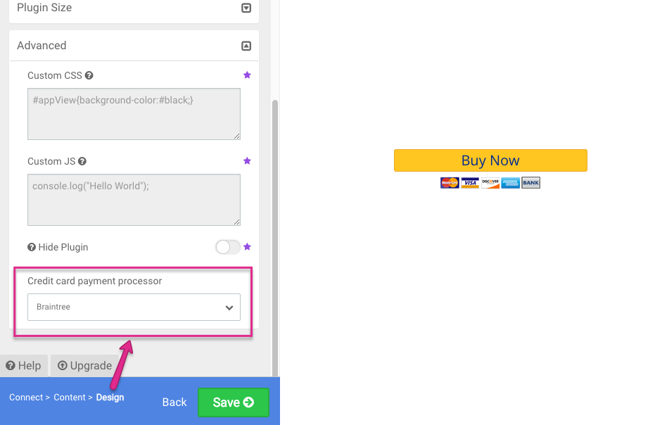 Accept Braintree Payments in PayPal Button – POWr